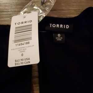 torrid Tops - Black Eyelet Cold Shoulder Blouse - Torrid, Size 0